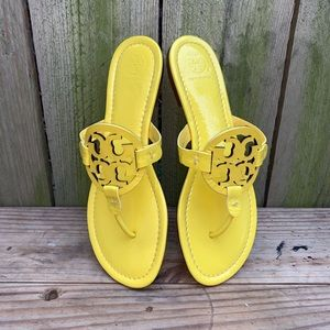 Tory Burch Patent Leather Miller Sandals Sz 8